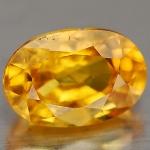 พลอยบุษราคัม (Yellow Sapphire) พลอยธรรมชาติแท้ น้ำหนัก 1.05 กะรัต