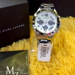 MARC JACOBS MBM3155 ROCK SILVER TONE STAINLESS STEEL CHRONOGRAPH WATCH