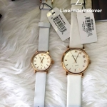 Marc By Marc Jacobs Baker Mini Rose Gold Tone White Leather Watch MBM1284