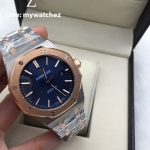 Audemars Piguet Royal Oak 15400SR Two Tone - Blue Dial Rose Gold