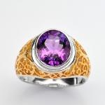 แหวนพลอยอเมทิส