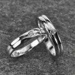 แหวนคู่ทองคำขาวเพชรแท้