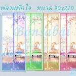 ม่านประตูกันยุง รุ่นเกรดเอ ไซส์ 90 แบบพิมพ์ลายพักใจ 5 สี