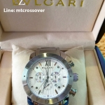 Bvlgari Diagono 46mm White Dial Stainless Steel Case Ceramic Bezel Steel Bracelet