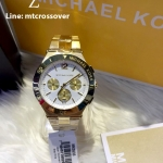 Michael Kors Wyatt Chronograph White Dial Gold Ion-plated Ladies Watch MK5933