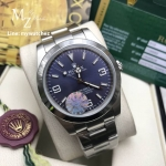 Rolex Explorer Blue Dial - Smooth Bezel