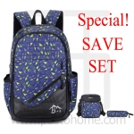 Laptop Notebook Backpack, Graphics Design, Set 3
