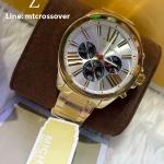 Michael Kors Wren Chronograph Silver Dial Gold-tone Ladies Watch MK5838