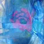 ม่านกันยุงแบบพิมพ์ลาย ไชส์ 100 สีฟ้า/ดอกไม้สลับสี