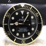 Rolex Submariner Two Tone Black Dial - Wall Clock