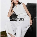 เสื้อผ้าแฟชั่นเกาหลี Lady Ribbon Thailand's Made Lady Claire Smart Minimal Belted Jumpsuit