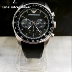 Armani Sportivo Chronograph Rubber - Black Men's watch #AR5977