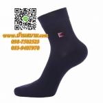 ถุงเท้าดับกลิ่น ขนาดข้อสั้น สีดำ