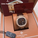 Patek Philippe 5713/1G-010 ฺBrown Dial - Rose Gold Brown Strap