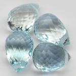 พลอยอะความาลีน (Aquamarine) พลอยธรรมชาติแท้ น้ำหนัก 3.75 กะรัต