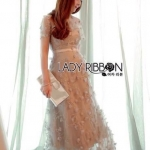 เสื้อผ้าแฟชั่นเกาหลี Lady Ribbon Thailand Lady Ribbon's Made Lady Sabina Fairy Tale Floral Embroidered Tulle Cocktail Dress ค็
