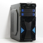 [PC Case] GMS Black-Blue Gaming ATX