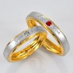 แหวนคู่รักสลักชือ ฝังพลอยแท้ แหวนเงินแท้ 925 ชุบ2กษัตริย์ สามารถเลือกพลอยได้