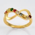 แหวนนพเก้า Infinity แหวนพลอยแท้ เงินแท้ ชุบทองคำแท้ ยิงทราย