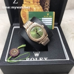 Rolex Day-Date Rose Gold Green Roman Dial Ref:228235