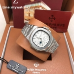 PATEK Nautilus 5712/1A Power Reserve Moonphase Calendar - White Dial