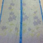 ม่านกันยุงแบบพิมพ์ลาย ไชส์ 100 สีฟ้า/ดอกไม้