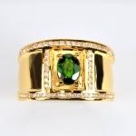 แหวนมรกตทองแท้ ประดับเพชรแท้