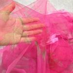 ม่านกันยุงแบบพิมพ์ลาย ไชส์ 100 สีชมพูสด/ช่อดอกไม้
