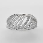 แหวนพลอยแท้ แหวนเงิน925 เพชร CZ ตัวเรือน ชุบทองคำขาว