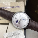 JLC MASTER CONTROL Date Moonphase Stainless 39 MM - Brown Strap