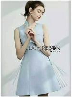 🎀 Lady Ribbon's Made 🎀 Lady Megan Lace-Down A-Line Baby Blue Dress