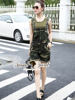 Seoul Secret Say's... Soldier Lady Chic BibbyShorts Set