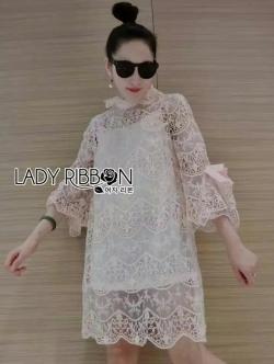 เสื้อผ้าแฟชั่นเกาหลี Lady Ribbon Thailand Lady Ribbon's MadeLady Ann Boleyn Modern Vintage Lace Dress