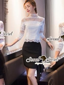 Seoul Secret Say's... Layer Ivory Princess Blouse
