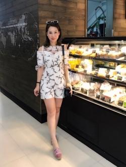 เสื้อผ้าแฟชั่นเกาหลี Lady Ribbon Thailand Normal Ally Present Embroider japan flower playsuit