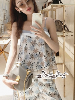 เสื้อผ้าแฟชั่นเกาหลี Lady Ribbon Thailand Seoul Secret Say's...Sweet Pastel Flower Pattern Set