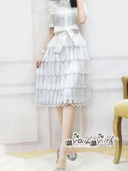 เสื้อผ้าแฟชั่นเกาหลี Lady Ribbon Thailand Seoul Secret Say's...Dress Shirt Feather Tassel