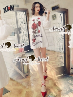 Seoul Secret Say's... Valent Rosey Smokking Dress