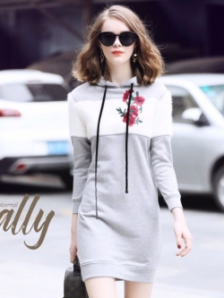เสื้อผ้าแฟชั่นเกาหลี Lady Ribbon Thailand Normal Ally Present Embroider Flower and crystal winter new collectio