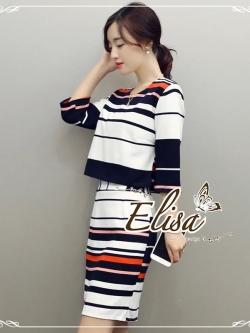 Elisa made Stripe Set Working Smart women