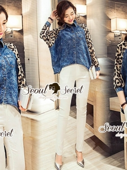 Seoul Secret Say's... Leopard Chill Out Skinny Set
