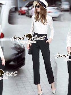 Seoul Secret Say's... Laccy Lace Top Playsuit