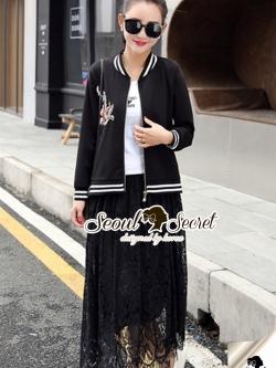 Seoul Secret Say's... Ladiest Chill Out Jacket Lace Skirt Set