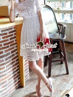 Seoul Secret Say's... Korea Princess Ivory Lace Dress