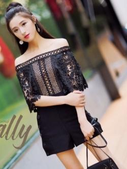 เสื้อผ้าแฟชั่นเกาหลี Lady Ribbon Thailand Normal Ally S.P brand new collection playsuit