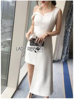 เสื้อผ้าแฟชั่นเกาหลี Lady Ribbon Thailand Lady Ribbon's Made Lady Cassandra Asymmetric Cocktail Dress