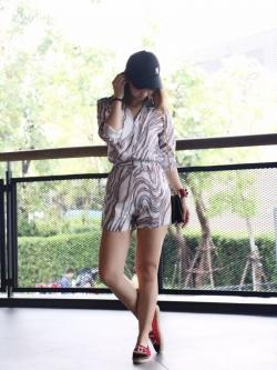 เสื้อผ้าแฟชั่นเกาหลี Lady Ribbon Thailand Normal Ally Present C.N new collection shirt and pant set