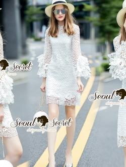 Seoul Secret Say's... Layer Sleeve Princess Lace Dress