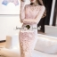 Seoul Secret Say's... Pastel Pink Droplet Lace Dress thumbnail 5